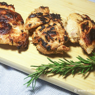 Grilled Lemon Herb Chicken Thighs.