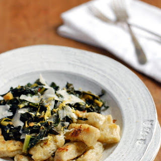 Jerusalem Artichoke Gnocchi With Sautéed Kale