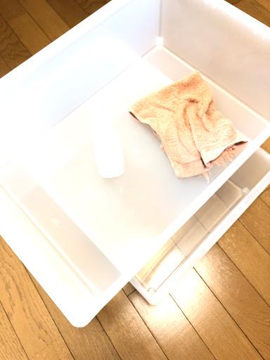 衣装ケースの拭き掃除