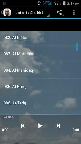 android Nasser Al Qatami Juz Amma MP3 Screenshot 11