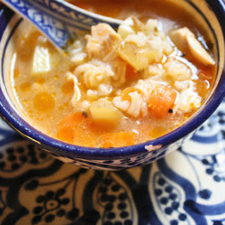Moroccan Chicken and Rice Soup