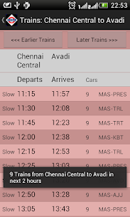 Download Chennai Local Train Timetable App for Android 5
