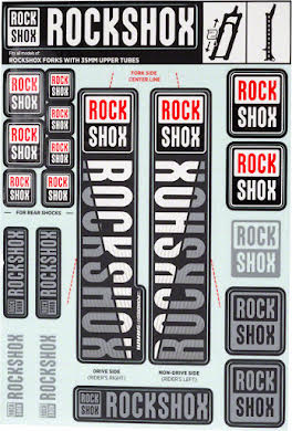 RockShox Decal Kit, 35mm alternate image 7
