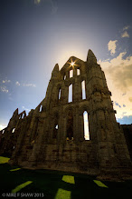 Photo: Gothic Light  This is Whitby Abbey on the Yorkshire coast in England. Its a gathering place for Dracula fans as this is the place he landed in the country in Bram Stokers book. It is reputed that Dracula's grave is also here, would love that to be true but he is a fictional character in the sense of Bram's story.  Every year the town holds Goth week that I really need to go ad spend time with the camera.