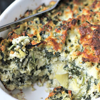 Easy Spinach Casserole With Artichokes & Quinoa