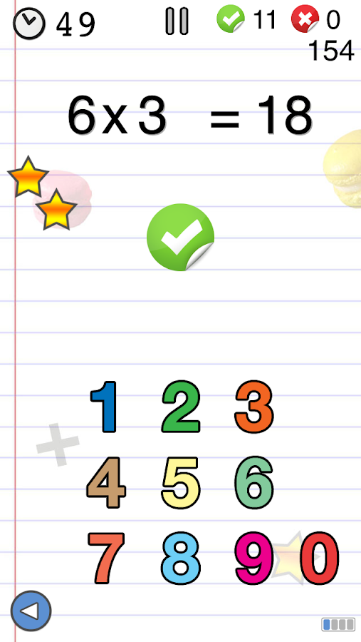 Math games for kids : times tables training- screenshot