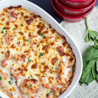 Twenty Minute Easy Tortellini Bake.