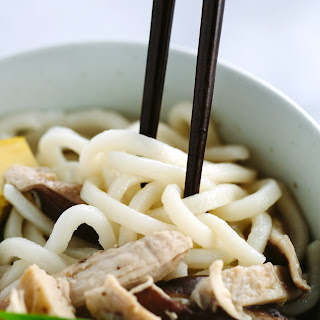 Chicken Udon Soup with Bok Choy.