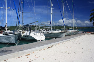 Photo: A few yachts Noel is looking after. note Compass Rose is stern to