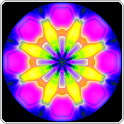 Colorful mandala patterns icon