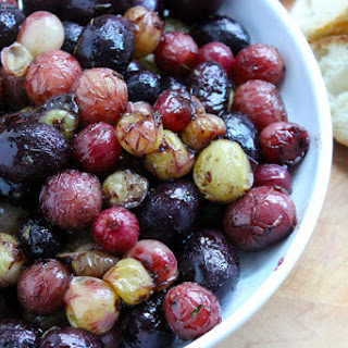 Roasted Grapes with Triple-Cream Cheese Appetizer  (adapted from Sunset Magazine)
