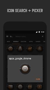 Black and Orange Icon Pack- screenshot thumbnail