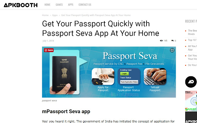 Passport Seva App Screenshot