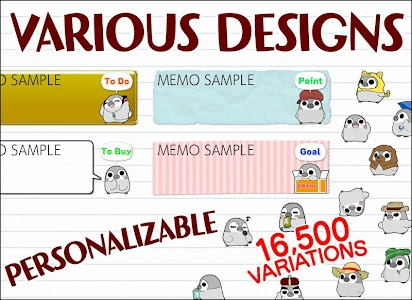 Pesoguin Memo Pad Penguin note screenshot 2