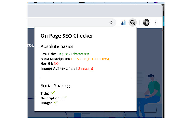 On Page SEO Checker for Google Chrome