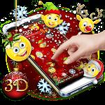 Christmas Emoji 3D Theme Icon
