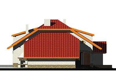 Wiera wersja A z pojedynczym garażem - Elewacja lewa