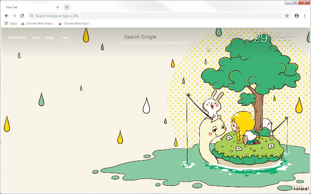 Piske and Usagi HD Wallpapers New Tab Themes