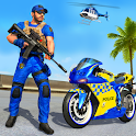 US Police Bike Gangster Chase: FPS Shooting Games icon