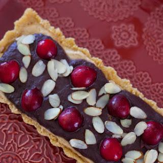 No Bake Chocolate Cherry Almond Tart.