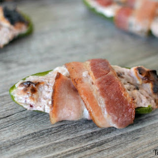 Bacon Wrapped Raspberry Chipotle Jalapeno Poppers