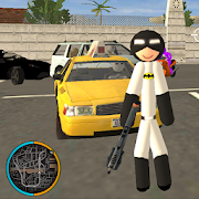 Bat Stickman Rope Hero Mafia Crime Gangstar