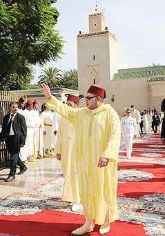 """Prière du vendredi à la mosquée """"Moulina"""" à Rabat"""