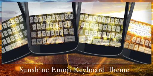 Sunshine Emoji Keyboard Theme