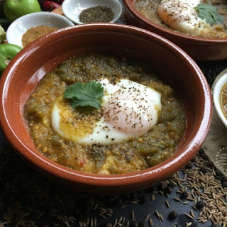 Ranchero Eggs with Salsa Verde.