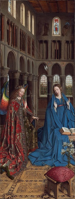 Jan Van Eyck's Annunciation, the hidden meanings  #kellybagdanov #arteducation #arthistory #classicalconversation #aparthistory #charlottemason #homeschoolarteducation #homeschooling