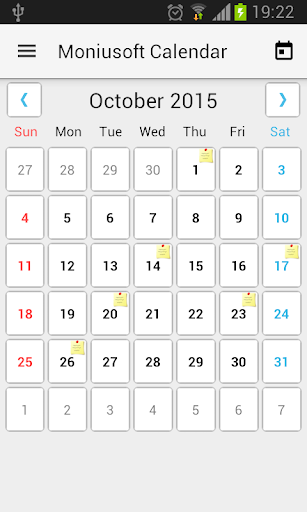 Moniusoft Calendar 5.0.12 screenshots 1