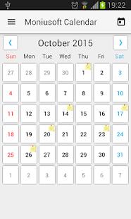 Moniusoft Calendar - náhled