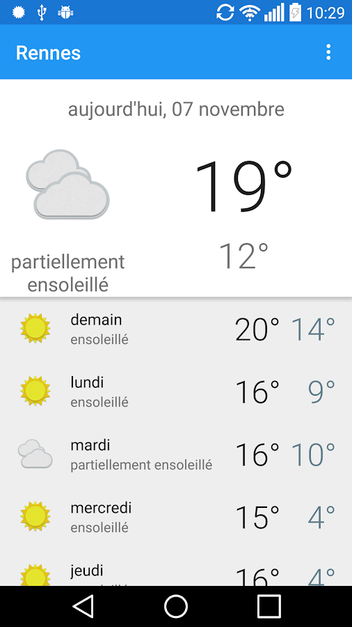 Rennes m t o android apps on google play - Meteo rennes samedi ...
