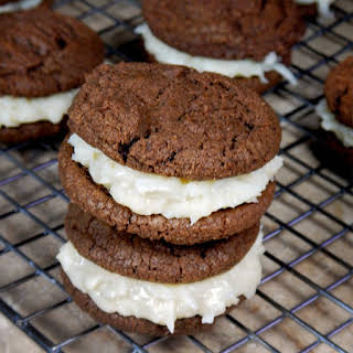 Chewy Chocolate Cookies with Coconut Candy Filling.