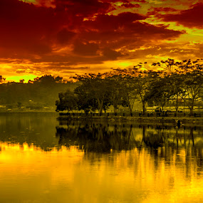 The Sun Sets Down by Agung Blade - Novices Only Landscapes ( sunset, landscape )