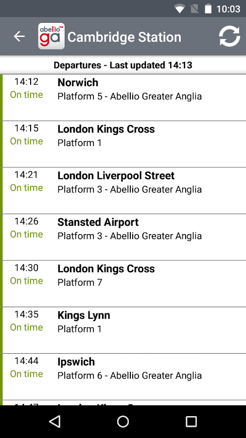 Greater Anglia Tickets- screenshot