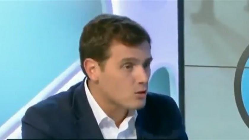 Albert Rivera, durante la entrevista en TV3.