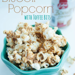Biscoff Popcorn with Toffee Bits