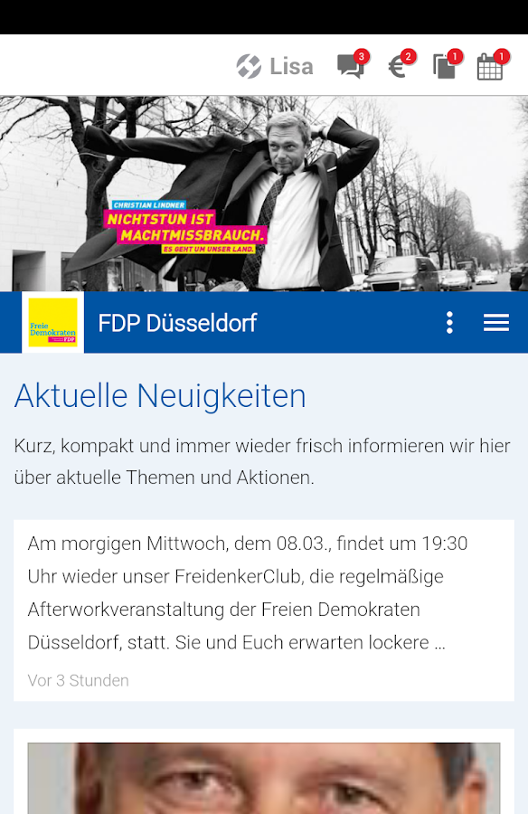FDP Düsseldorf- screenshot