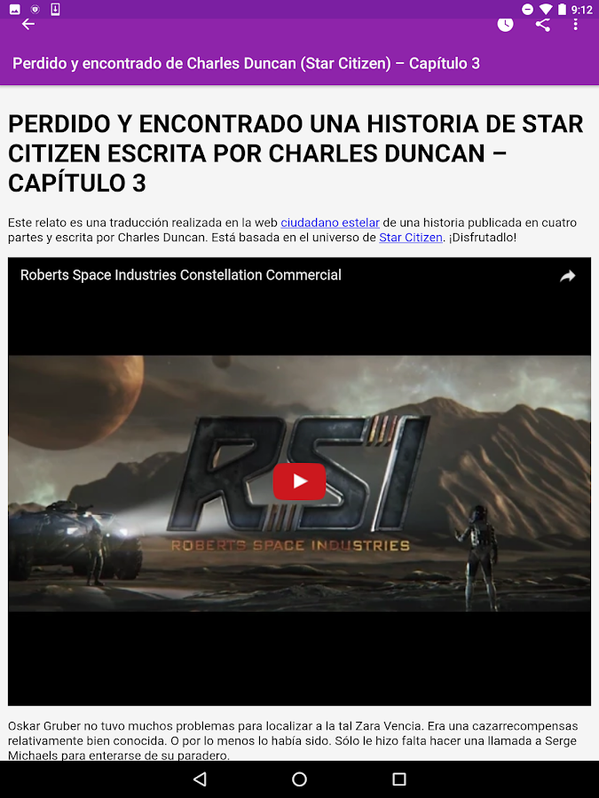 Relatos escritos- screenshot