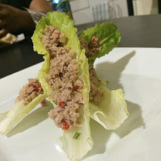 Thai Tuna Lettuce Wraps
