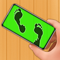 Footprint invisible paths detector prank icon