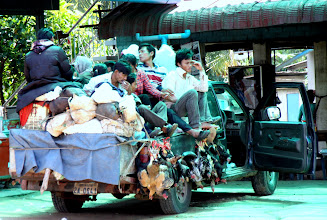 Photo: Year 2 Day 38 -  Loaded Pick Up Taxi