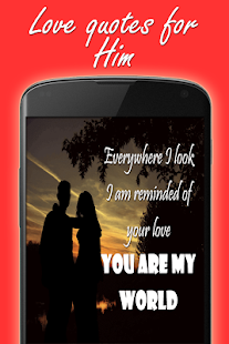 Romantic love quotes & images for him free- screenshot thumbnail