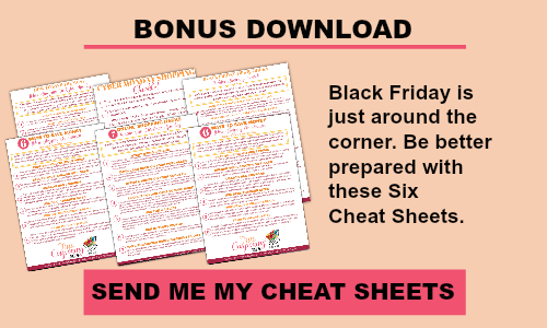 Click HERE for your FREE Cheat Sheets!