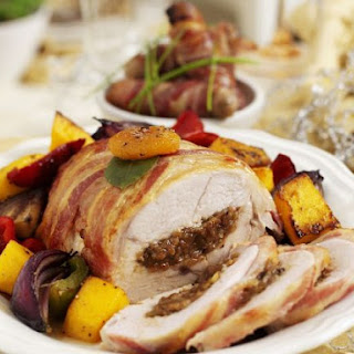Wrapped Turkey with Fruit Centre