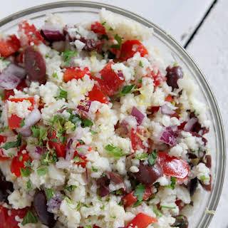 Cauliflower Rice Tabouleh.