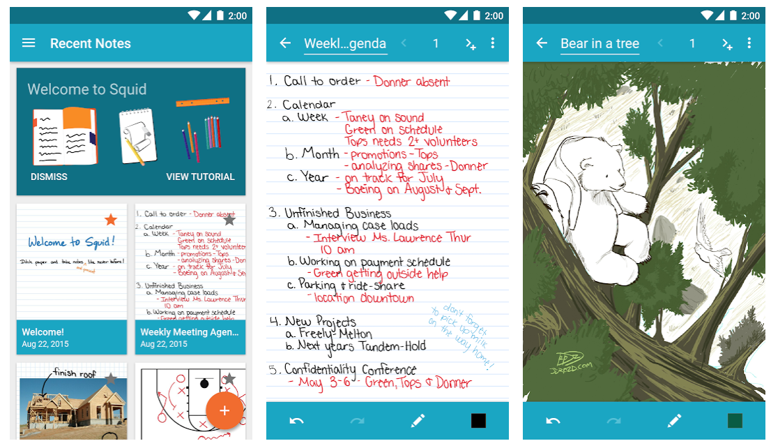 best note taking app android squid photos