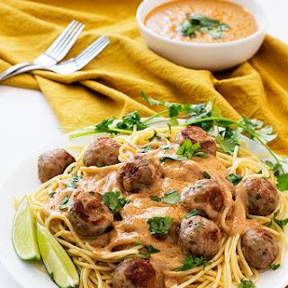 Thai Spaghetti and Meatballs