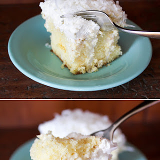 Coconut Drippy Cake